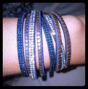 Multi strand suede bracelet NWOT